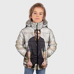 Куртка зимняя для мальчика Улыбчивый Месси цвета 3D-черный — фото 2