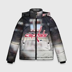 Детская зимняя куртка для мальчика с принтом Washington Capitals, цвет: 3D-черный, артикул: 10099897106063 — фото 1