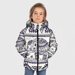 Куртка зимняя для мальчика Африка цвета 3D-черный — фото 2