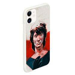 Чехол iPhone 11 матовый Молодой Цой цвета 3D-белый — фото 2
