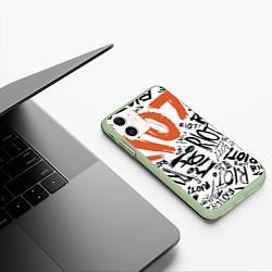 Чехол iPhone 11 матовый Paramore: Riot цвета 3D-салатовый — фото 2