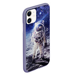 Чехол iPhone 11 матовый Starfield: Astronaut цвета 3D-серый — фото 2