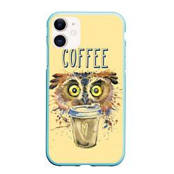 Чехол iPhone 11 матовый Owls like coffee цвета 3D-мятный — фото 1
