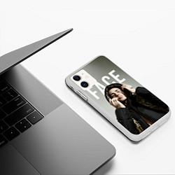 Чехол iPhone 11 матовый FACE: Slime цвета 3D-белый — фото 2