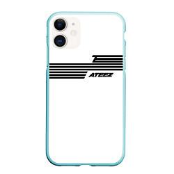 Чехол iPhone 11 матовый Ateez цвета 3D-мятный — фото 1