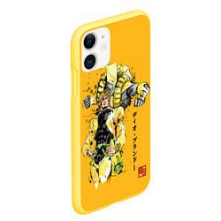 Чехол iPhone 11 матовый JoJo Bizarre Adventure цвета 3D-желтый — фото 2