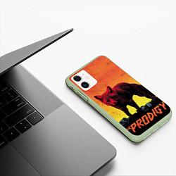 Чехол iPhone 11 матовый The Prodigy: Red Fox цвета 3D-салатовый — фото 2