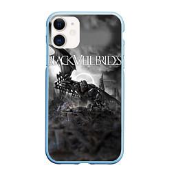 Чехол iPhone 11 матовый Black Veil Brides: Faithless цвета 3D-голубой — фото 1