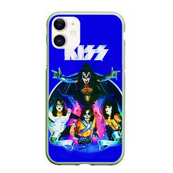 Чехол iPhone 11 матовый Kiss Show цвета 3D-салатовый — фото 1