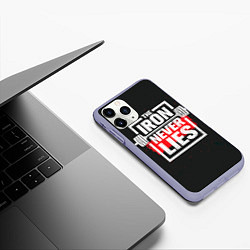 Чехол iPhone 11 Pro матовый The iron never lies цвета 3D-светло-сиреневый — фото 2