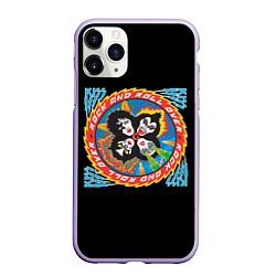 Чехол iPhone 11 Pro матовый KISS: Over цвета 3D-светло-сиреневый — фото 1