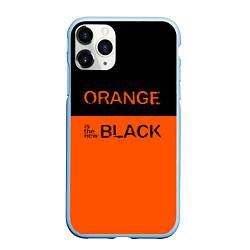 Чехол iPhone 11 Pro матовый Orange Is the New Black цвета 3D-голубой — фото 1