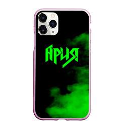 Чехол iPhone 11 Pro матовый Ария цвета 3D-розовый — фото 1