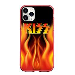 Чехол iPhone 11 Pro матовый KISS цвета 3D-красный — фото 1