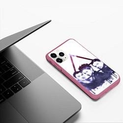 Чехол iPhone 11 Pro матовый 30 seconds to mars цвета 3D-малиновый — фото 2