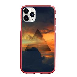 Чехол iPhone 11 Pro матовый 30 seconds to mars цвета 3D-красный — фото 1