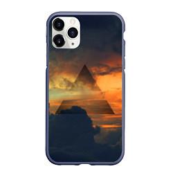 Чехол iPhone 11 Pro матовый 30 seconds to mars цвета 3D-серый — фото 1