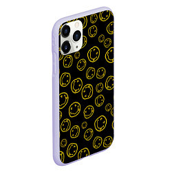 Чехол iPhone 11 Pro матовый Nirvana Pattern цвета 3D-светло-сиреневый — фото 2