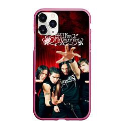 Чехол iPhone 11 Pro матовый Bullet for my valentine цвета 3D-малиновый — фото 1
