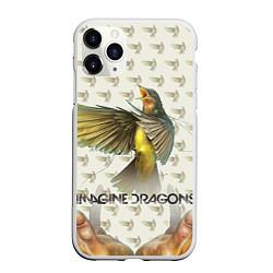 Чехол iPhone 11 Pro матовый Imagine Dragons: Fly цвета 3D-белый — фото 1