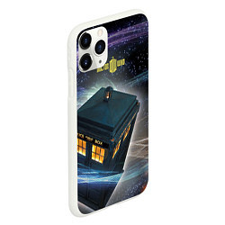 Чехол iPhone 11 Pro матовый Police Box цвета 3D-белый — фото 2