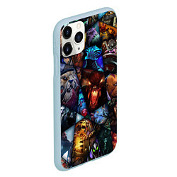Чехол iPhone 11 Pro матовый Dota 2: All Pick цвета 3D-голубой — фото 2