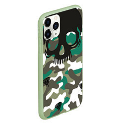 Чехол iPhone 11 Pro матовый Камуфляж цвета 3D-салатовый — фото 2