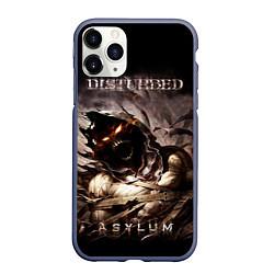 Чехол iPhone 11 Pro матовый Disturbed цвета 3D-серый — фото 1