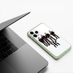 Чехол iPhone 11 Pro матовый Группа Пикник цвета 3D-салатовый — фото 2