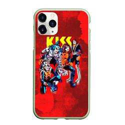 Чехол iPhone 11 Pro матовый KISS: Hot Blood цвета 3D-салатовый — фото 1