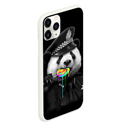 Чехол iPhone 11 Pro матовый Панда с карамелью цвета 3D-белый — фото 2