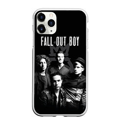 Чехол iPhone 11 Pro матовый Fall out boy band цвета 3D-белый — фото 1