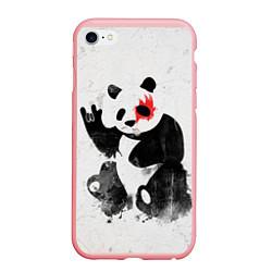 Чехол iPhone 6/6S Plus матовый Рок-панда цвета 3D-баблгам — фото 1