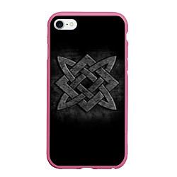 Чехол iPhone 6/6S Plus матовый Звезда Сварога цвета 3D-малиновый — фото 1