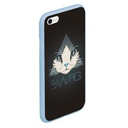 Чехол iPhone 6/6S Plus матовый Cat цвета 3D-голубой — фото 2