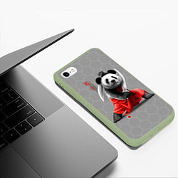 Чехол iPhone 6/6S Plus матовый Master Panda цвета 3D-салатовый — фото 2