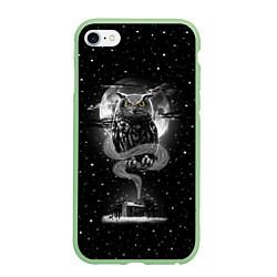 Чехол iPhone 6/6S Plus матовый Ночная сова цвета 3D-салатовый — фото 1
