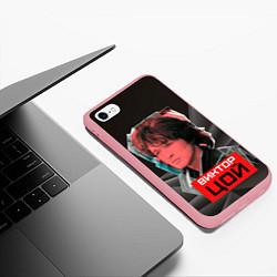 Чехол iPhone 6/6S Plus матовый Виктор Цой цвета 3D-баблгам — фото 2