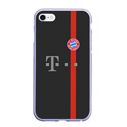 Чехол iPhone 6/6S Plus матовый Bayern FC: Black 2018 цвета 3D-светло-сиреневый — фото 1