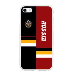 Чехол iPhone 6/6S Plus матовый Russian Empire цвета 3D-белый — фото 1
