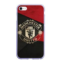 Чехол iPhone 6/6S Plus матовый FC Man United: Old Style цвета 3D-светло-сиреневый — фото 1