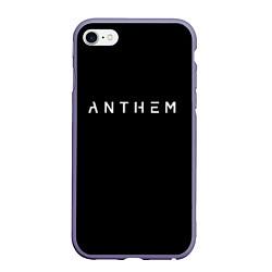Чехол iPhone 6/6S Plus матовый ANTHEM: Black Style цвета 3D-серый — фото 1