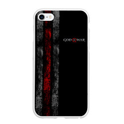 Чехол iPhone 6/6S Plus матовый God of War: Black Style цвета 3D-белый — фото 1