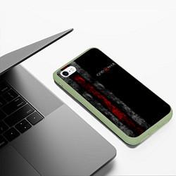 Чехол iPhone 6/6S Plus матовый God of War: Black Style цвета 3D-салатовый — фото 2