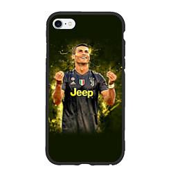 Чехол iPhone 6/6S Plus матовый Ronaldo: Juve Sport цвета 3D-черный — фото 1