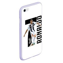 Чехол iPhone 6/6S Plus матовый Ronaldo the best цвета 3D-светло-сиреневый — фото 2
