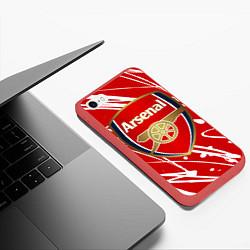 Чехол iPhone 6/6S Plus матовый Arsenal цвета 3D-красный — фото 2