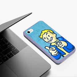 Чехол iPhone 6/6S Plus матовый Fallout: It's okey цвета 3D-светло-сиреневый — фото 2