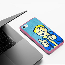 Чехол iPhone 6/6S Plus матовый Fallout: It's okey цвета 3D-малиновый — фото 2