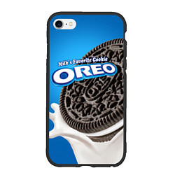 Чехол iPhone 6/6S Plus матовый Oreo цвета 3D-черный — фото 1